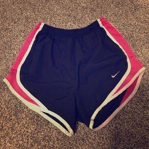 Black and pink Nike shorts size XS